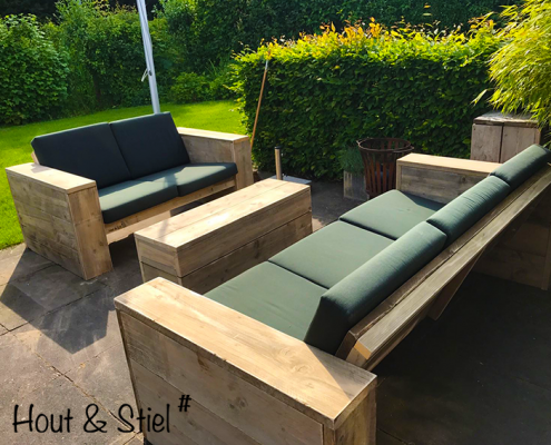 Loungebanken hocker steigenhout