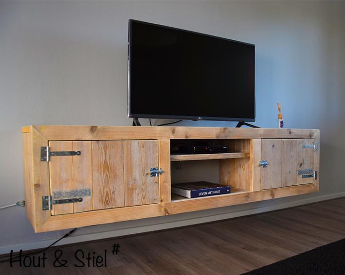 Steigerhout Tv Kast : Tv meubel oud steigerhout zijaanzicht hout stiel