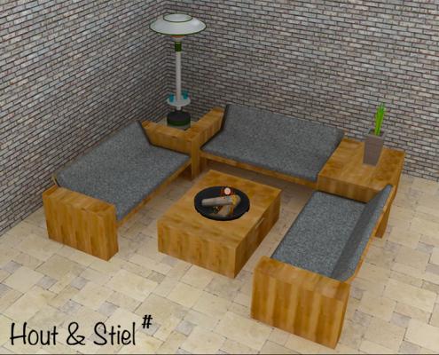 Steigerhouten tuinmeubelen met 3d ontwerpen van hout stiel - Tuinmeubelen ontwerp ...