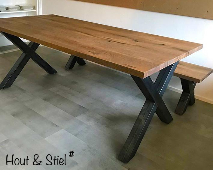 Bedwelming Industriële steigerhouten meubels hout en staal - Hout & Stiel# &IF62