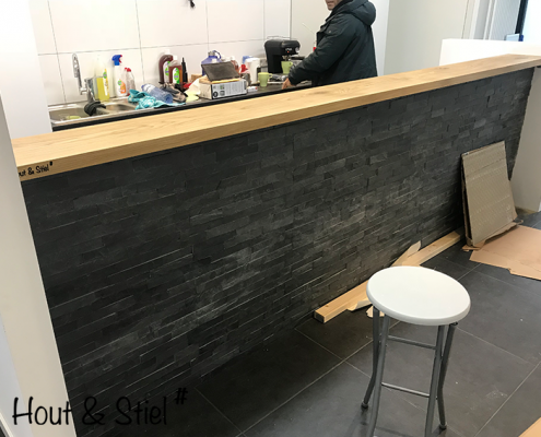 Toonbank bar eikenhout zakelijk